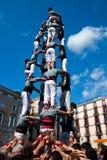 巴塞罗那castellers 免版税库存照片