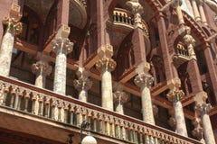 巴塞罗那catalana大厅音乐 库存照片