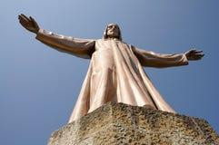 巴塞罗那christus耶稣雕象 免版税库存图片
