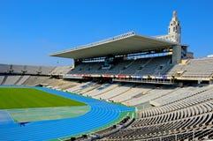 巴塞罗那companys estadi lluis olimpic西班牙 免版税图库摄影