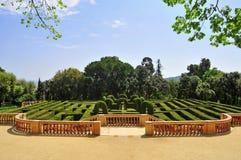 巴塞罗那d del horta laberint parc西班牙 库存照片