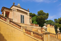 巴塞罗那d del horta laberint parc西班牙 免版税库存照片