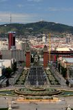 巴塞罗那de西班牙广场视图 免版税图库摄影