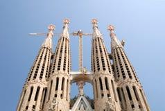 巴塞罗那familia sagrada西班牙塔 免版税库存照片