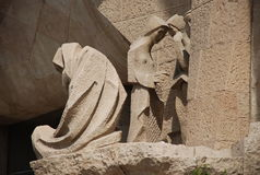巴塞罗那familia sagrada 库存图片