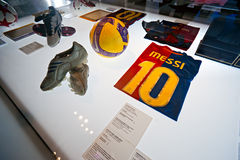 巴塞罗那fcb博物馆西班牙 图库摄影