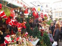 巴塞罗那llucia市场圣诞老人 图库摄影