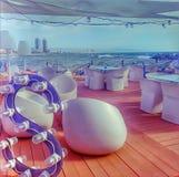 巴塞罗那RestauranteSal HotelWela海滩 免版税库存照片