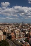巴塞罗那skyview 免版税库存照片