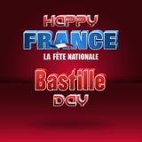 巴士底日,法国的国庆节 库存照片
