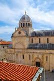 巴尔干教会有历史的克罗地亚 免版税库存照片