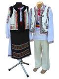 巴尔干被绣的全国传统服装衣裳孤立 免版税库存照片