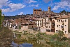 巴尔德罗夫雷斯中世纪市在西班牙 库存照片