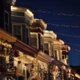 巴尔的摩圣诞灯 免版税库存照片