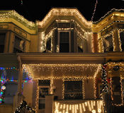 巴尔的摩圣诞灯 免版税图库摄影