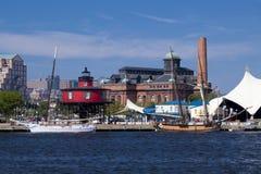 巴尔的摩港口内在马里兰 免版税库存照片