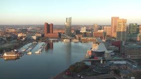巴尔的摩,马里兰内在港口 股票视频