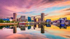巴尔的摩,马里兰地平线 免版税库存图片