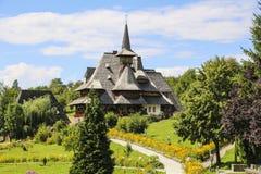 巴尔萨纳木修道院, Maramures,罗马尼亚 免版税库存照片