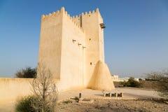 巴尔赞城楼 古老阿拉伯设防,卡塔尔 免版税库存照片