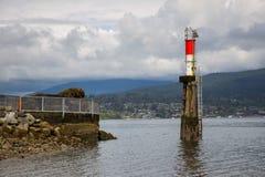 巴尼特海岸公园海滩和灯塔 库存图片