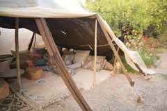 巴巴里人摩洛哥人帐篷 免版税库存图片