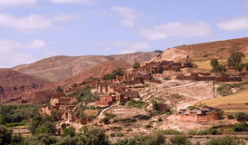 巴巴里人摩洛哥村庄 图库摄影