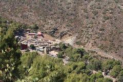 巴巴里人村庄,摩洛哥。 免版税图库摄影
