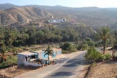 巴巴里人村庄,摩洛哥。 图库摄影