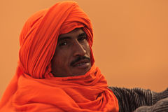 巴巴里人沙漠人纵向撒哈拉大沙漠 免版税库存图片