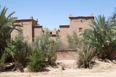 巴巴里人筑堡垒于的村庄 库存图片