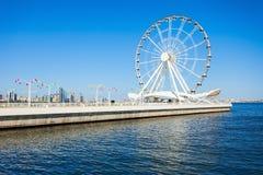 巴库弗累斯大转轮,阿塞拜疆 库存照片