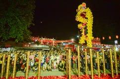 "巴彦BARU, PENANG/MALAYSIA †""2016年2月02日:舞狮perfo 库存图片"