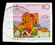 巴德夫兰肯豪森,一千个巴德夫兰肯豪森serie,大约1998年 库存图片