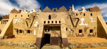 巴德尔博物馆和房子, Farafra,埃及门面  库存图片