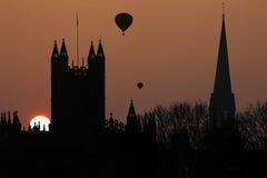 巴恩修道院在巴恩-英国城市 库存照片