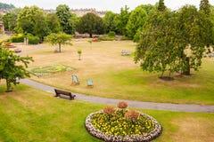 巴恩庭院,巴恩镇,西英国 免版税库存照片