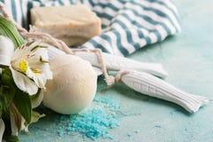 巴恩炸弹、肥皂和装饰鱼 免版税库存照片