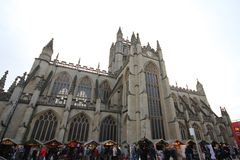 巴恩,英国- 2013年12月6日:与Ab的街道视图 免版税库存照片