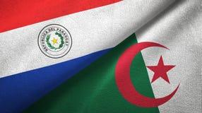 巴拉圭和阿尔及利亚两旗子纺织品布料,织品纹理 皇族释放例证