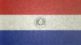 巴拉圭3D的原始的旗子图象 向量例证