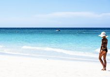 巴拉德罗角古巴和海滩 库存照片