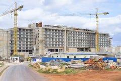 巴拉德罗角,古巴- 2018年1月05日:建造场所的看法 免版税图库摄影