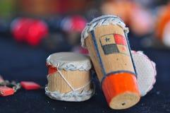 巴拿马传统音乐鼓 免版税库存照片
