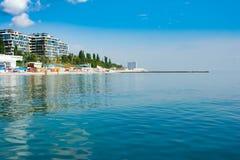 巴拿马城海滩水,海洋,美国,岸,许多 免版税库存照片