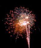 巴拿马市海滩佛罗里达烟花时间间隔庆祝烟火制造术 免版税库存照片