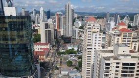 巴拿马市鸟瞰图在夏天在巴拿马的国家 股票视频
