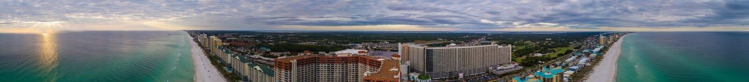 巴拿马海滩FL天线图象 图库摄影