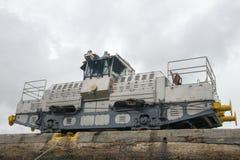巴拿马运河火车骡子,旅行 免版税库存照片