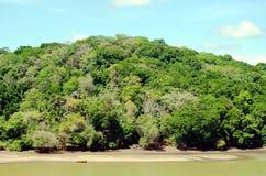 巴拿马运河的风景 图库摄影